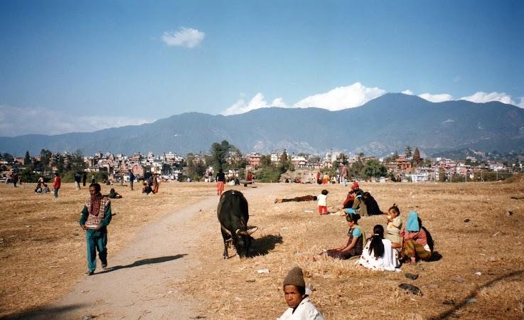 Imagini Nepal:  spre Pashupatinath.jpg