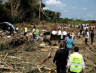 – Site de l'accident de Hewa Bora à Kisangani. Radio Okapi/ Ph. Pierre Efue