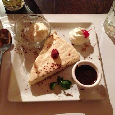 Cheesecake sauce chocolat