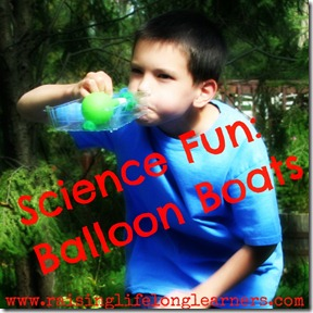 Science Fun Balloon Boats