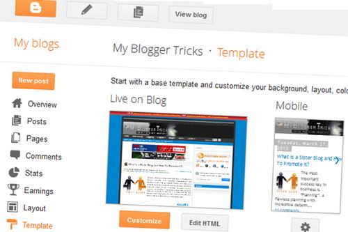 trik dan cara kembali ke tampilan dasbor Blogspot Blogger lama