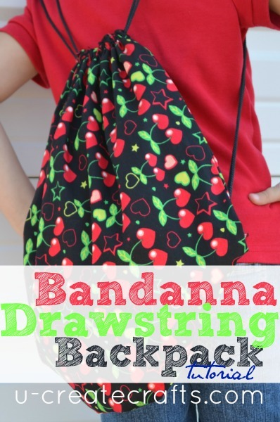 Drawstring Bandanna Backpack Tutorial COVER