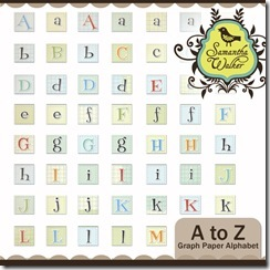 SW A to Z graph paper alphabet