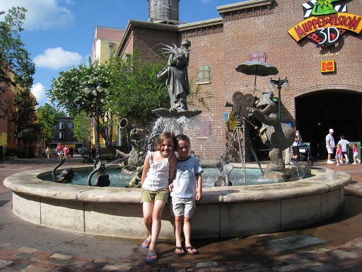 Eli and Natalie in front of Muppet Vision 3D