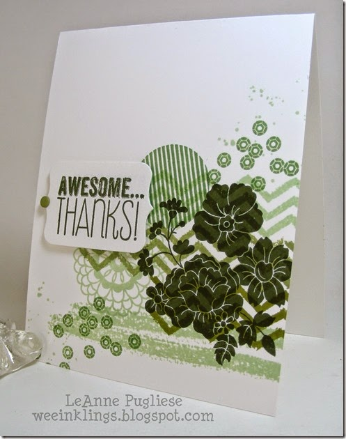 LeAnne Pugliese WeeInklings Stampin Up Hello Darling Work of Art