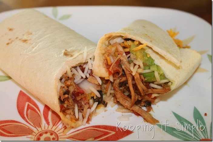 Crock Pot Pork Burritos #SuccessRice #ad (8)