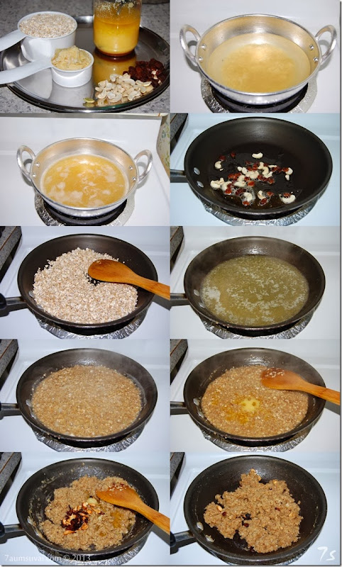 Oats sweet pongal process