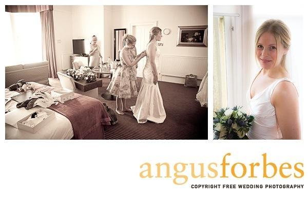Bride getting ready st andrews Scottish wedding Photographer Dundee_029