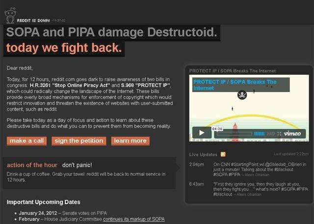 Sekitar Protes Anti SOPA/PIPA