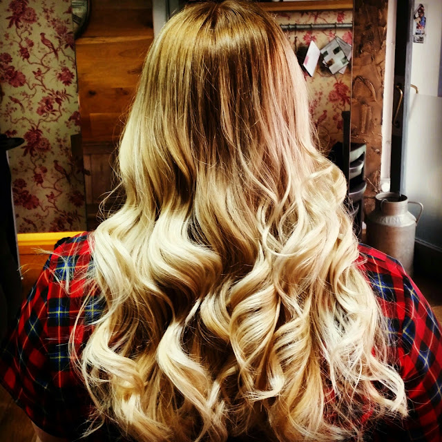 Ombre hair with Bblonde Lightening Spray