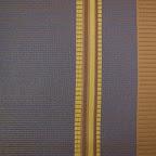 Elegancka tkanina w pasy. Brązowa, niebieska. Na zasłony, poduszki, dekoracje. Duża szerokość.