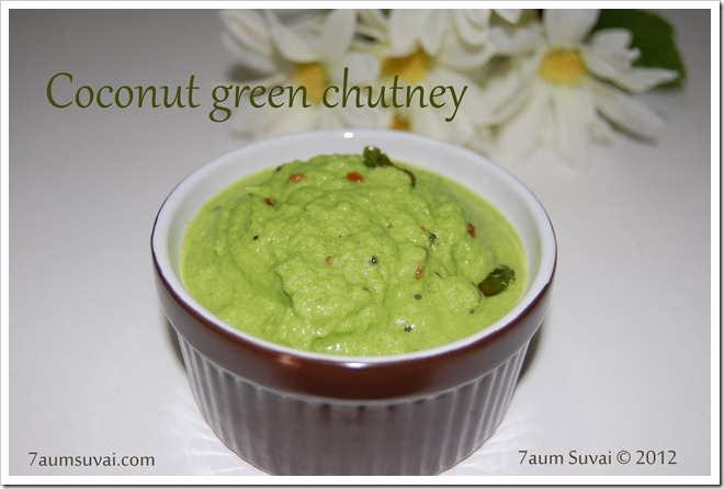 Coconut green chutney