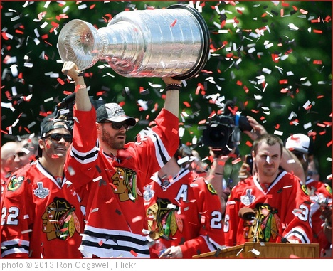 'The Stanley Cup Lifted Aloft -- Grant Park Rally for the Blackhawks Chicago (IL) June 28, 2013' photo (c) 2013, Ron Cogswell - license: http://creativecommons.org/licenses/by/2.0/