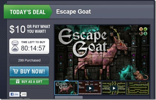 Escape goat Pay what you want