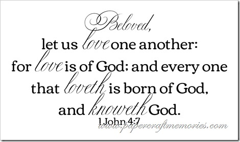 1 John 4:7 WORDart by Karen for WAW for personal use