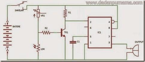 skema alarm sensor cahaya