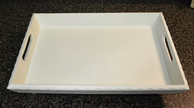 white painted tray