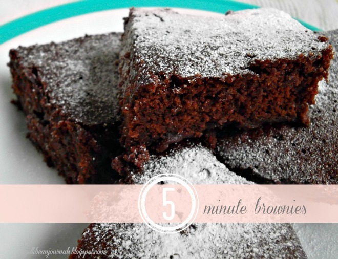 Five Minute Brownies: lush, decadent and FAST! | Jellibean Journals