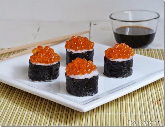 sushi huevas salmon espe saavedra