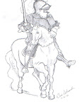 Upside-Down Drawing: Man on a Horse