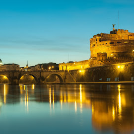 castel santangelo by Pietro Lizarondo - Buildings & Architecture Public & Historical ( history, landmark, waterscape, architecture, landscape )