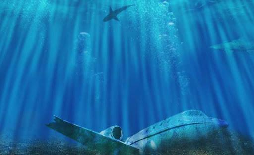pesawat tenggelam dibawah laut segitiga bermuda