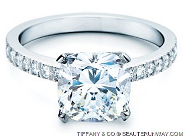 TIFFANY & CO. SETTING NOVO DIAMOND ENAGEMENT RING sophisticated faceted brilliant cut design inspired famous cushion-cut Tiffany Diamond Jeweler of True Love Designs for the Perfect Wedding and a Lifetime of Brilliance