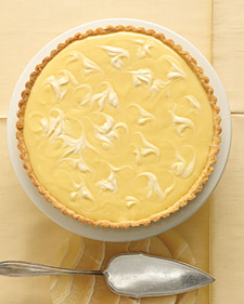 Marbled Lemon Tart With Sage Cornmeal Crust