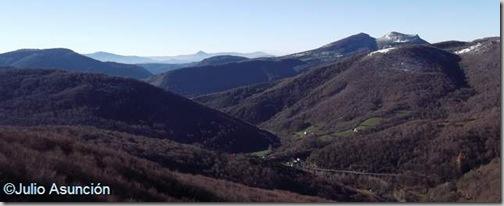 Panorámica desde el mirador de Zamariain - Garaioa