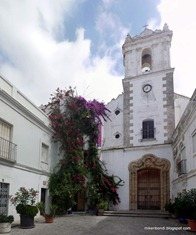chapel with bougainvillea