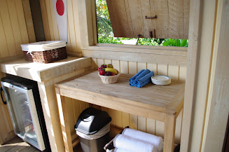 They also provide more towels and fresh fruit for your convenience.