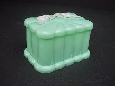 aqua blue plastic cotton ball holder by Menda