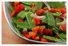 Snow Peas and Red Peppers