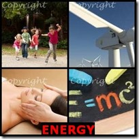 ENERGY- 4 Pics 1 Word Answers 3 Letters