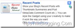 Recent Post Blogger