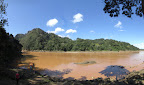 Another riverside panorama. Thats our boat in the bottom left corner - we had to stop here to sign the national park guest register.