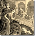 Yashoda and others worried about Krishna