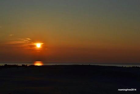 Lake Michigan Dunes Sunset