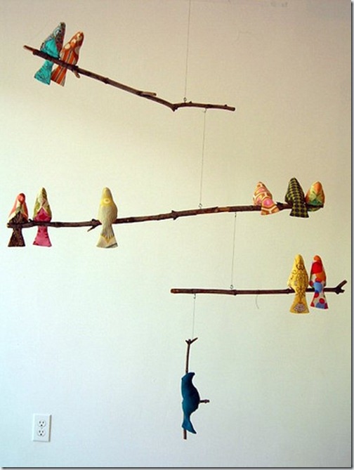 spool sewing fågel