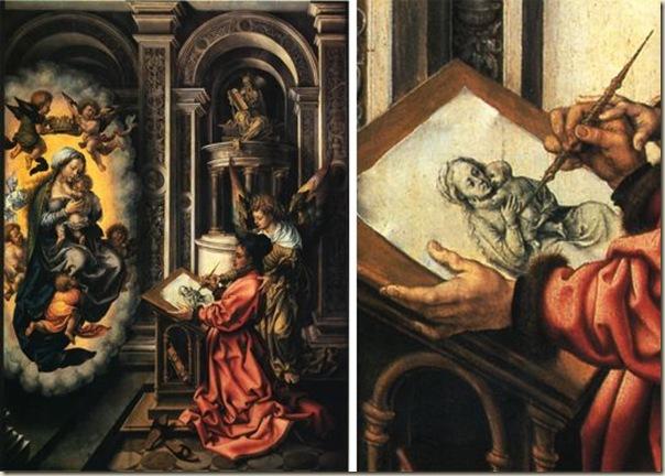 St Luc peignant la Vierge