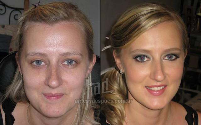 Antes y despues del maquillaje 15