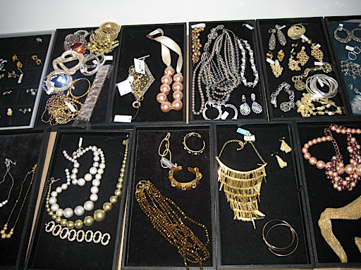 I wish I could say that all of this is from my personal collection, but sadly it's all on loan from various jewelers.