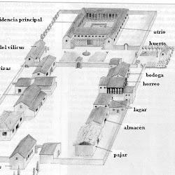 60 - Esquema constructivo de Villa romana