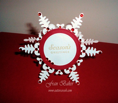 Snowflake Card_Front View