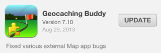 Geocaching Buddy version 7.10
