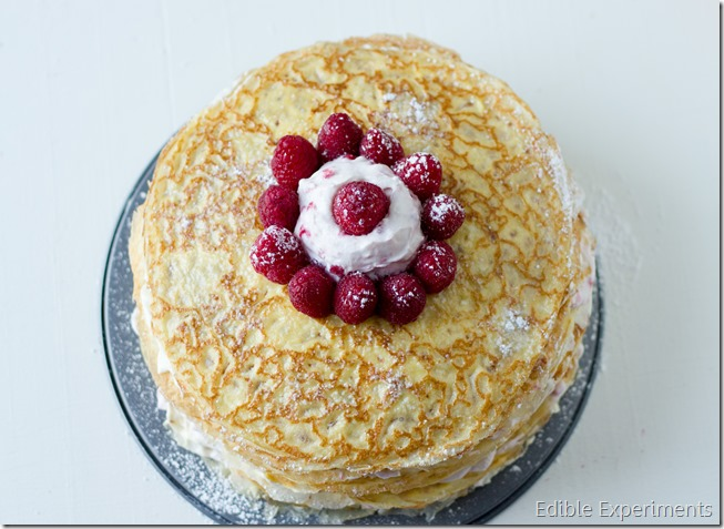 Meyer Lemon and Raspberry Crepe Cake-14