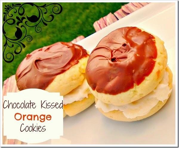 chocolate kissed orange cookies