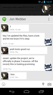 Android wishlist #3: Expanded chat head