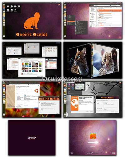 Mengubah Windows 7 Menjadi Ubuntu 11.10 Oneiric Ocelot