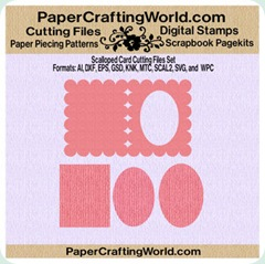 scalloped card set 350